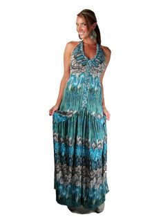 Sky Schurr maxi dress available at http://www.shopvelvethanger.com/product/SKY58/Sky-Schurr-Dress-In-Teal.html