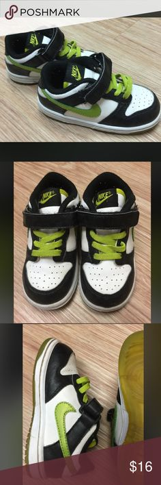 Toddler Nikes Toddler Nike.. Size 6.5.. In good used condition.. They have glow in the dark ghosts around the toe.. Slip on and velcro.. Super cute 👻 Nike Shoes Sneakers