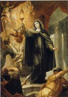 """Today with the Saints: August 11 Saint Clare • Activity: Make a """"St. Clare Cheesecake"""""""