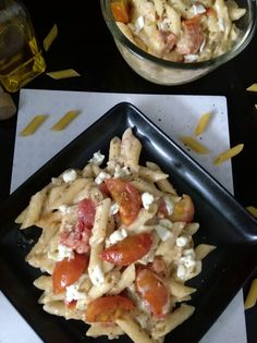Creamy Penne Pasta With Roasted Tomatoes