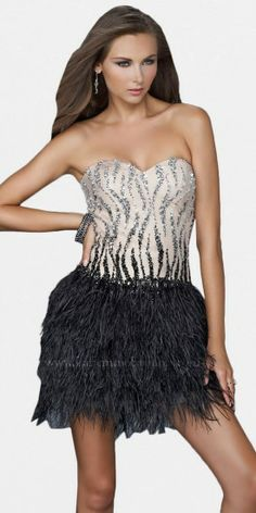 Feather Cocktail Dresses By Jovani