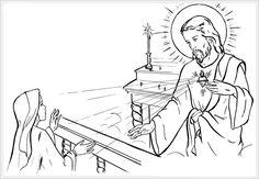Saint Margaret Mary Alacoque / Sacred Heart Catholic Coloring Page