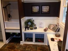 Mud room built ins/dog area. This will be a must have, ESPECIALLY if we get a second border!