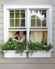 When space is limited but enthusiasm isnt, think containers. These window boxes, just two feet long each, are big enough to grow all sorts of herbs, including oregano, basil, chives, and rosemary.