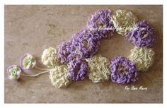 SPEAKING OF CROCHET: CROCHET SCARF WITH TWO TYPES OF FLOWERS - FLOWERS AND TAPE TRICOT CROCHE-NOW WITH VIDEO OF ELAINE