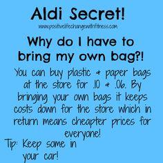 Aldi Secrets! :) #aldi #resusablebags #discounts