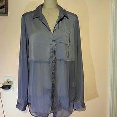 Free People light purple stunning top nwot Newer worn ,sheer lower part of top Free People Tops