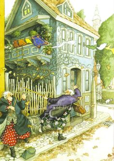 Inge Löök: Musikalische Herbstgrüße  - Postkarte  NEU