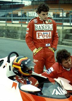 Senna and it might be Berger sitting in the car