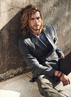 Long Hair and Suited. menswear, men's fashion, men's street style