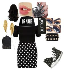 """""""the perfect outfit"""" by katara-03 ❤ liked on Polyvore featuring Miss Selfridge, Valentino, LeiVanKash, Amber Sceats, Boohoo and Converse"""