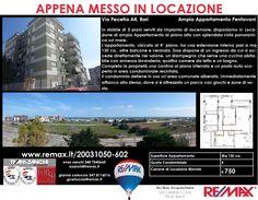 Appena Messo in Locazione Bari, Via Peucetia A4 Ampio Appartamento Pentavani www.remax.it/20031050-602 info 348 7340665