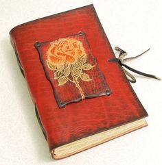 Red Rose Leather Journal