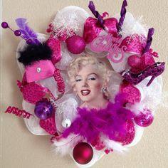 Marilyn Monroe Christmas Wreath Marilyn Monroe by WondrousWreath