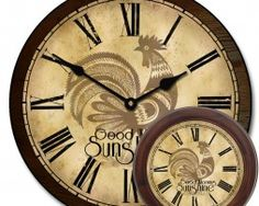 Sunshine Rooster Clock mix