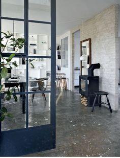 Beton gulv i køkken
