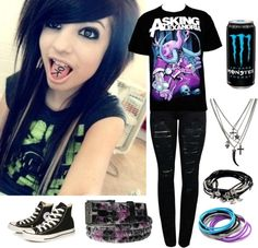 """Asking Alexandria"" by stitching-these-wounds ❤ liked on Polyvore"