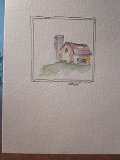 Farm Country Watercolor Card by gardenblooms on Etsy, $3.50