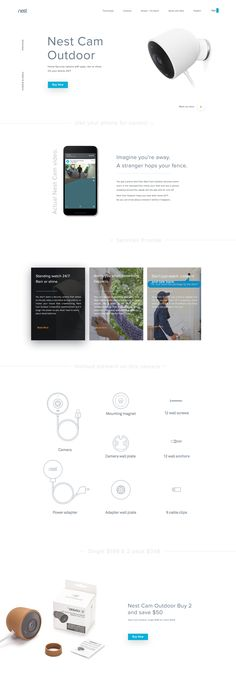 Nest landing page All Website, Website Layout, Thermal Hotel, Concept Web, Outdoor Camera, Mobile Web Design, Ui Web, Landing Page Design, Web Design Inspiration