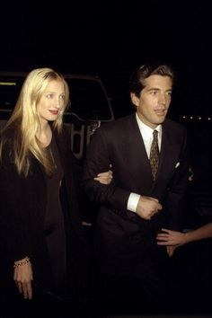 John Kennedy Jr. and his wife Carolyn Bessette-Kennedy. I remember his plane crash