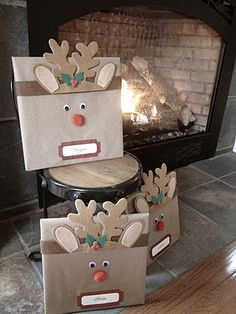 DIY Rudolph Wrapping Paper Idea for Children's Books
