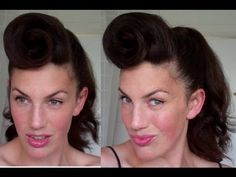 How to Rockabilly Roll hairstyle tutorial 40's 50's pinup hair paloma faith pomp