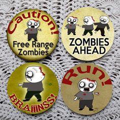 Zombie Crossing  Halloween Mousepad Coaster Set coasters by Polkadotdog