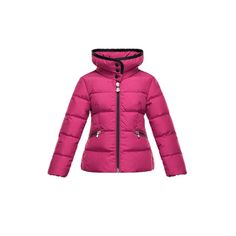 Kids Moncler Raspberry Enfant Aubette Hooded Down Jacket