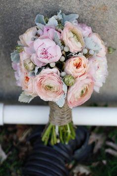 Modern Rustic Vintage Pink Silver Bouquet Garden Spring Vineyard Wedding Flowers Photos & Pictures - WeddingWire.com
