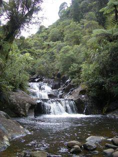 New Zealand, waterfall