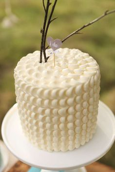 Vintage wedding party cake! See more party planning ideas at CatchMyParty.com!