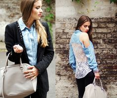 Forever 21 Button Down, H&M Bag, Zara Blazer