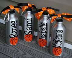Aluminum Water Bottle Soccer Baseball Basketball Tennis Dance Gymnastics Team Theme Your Team Colors Any Sport Can Be Done Basketball Crafts, Basketball Party, Basketball Season, Sports Basketball, Basketball Decorations, Locker Decorations, Basketball Jersey, Basketball Court, Soccer