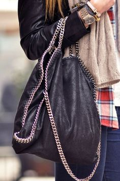 Love the chain strap  handles! tory burch, radley, carolina herrera purses 2013-2014
