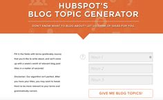 7 Tools for Generating Infinite Content Ideas for Your Blog https://www.quicksprout.com/2017/02/15/7-tools-for-generating-infinite-content-ideas-for-your-blog/?utm_campaign=crowdfire&utm_content=crowdfire&utm_medium=social&utm_source=pinterest