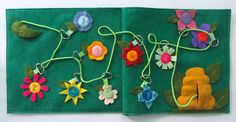 Bumble Bee Lacing Maze Quiet Book Page - Imagine our Life blog - lots of tutorials for making quiet book pages.