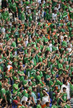 #EURO2016 Lyon France 26 June 2016 Republic of Ireland supporters during the UEFA Euro 2016 Round of 16 match between France and Republic of Ireland at Stade...