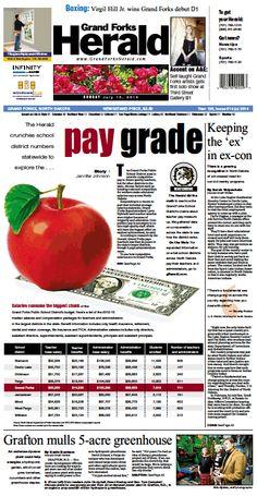 July 13, 2014 #GrandForksHerald #Newspaperdesign #Frontpage #JanelleVonasek