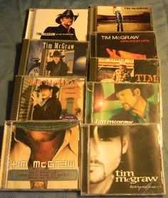 Lot of NINE Tim McGraw Cd's Country Classic!