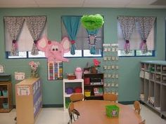 I want curtains like these in my classroom!
