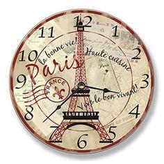 Paris Eiffel Tower Wall Clock  $99.00