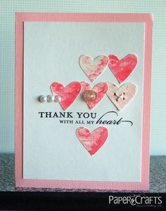 With All my Heart Card by @Teri Anderson