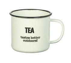 'Tea' Enamel Mug