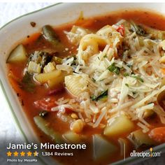 "Jamie's Minestrone | ""This is a really GREAT recipe. I made it for after Christmas when we didn't need any more calories."" — RATHBUN"