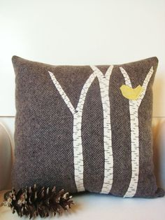 I am collecting textiles with birds on them and making pillows and curtains. Yeah, I know, Portlandia, etc.