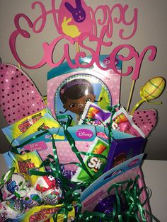 Hot wheels easter basket annie may pinterest easter baskets doc mcstuffins easter basket on etsy 1500 negle Images