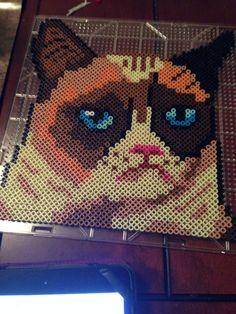 Grumpy Cat perler beads by Dezzy Veasey