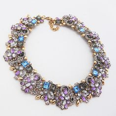 Statement Necklace Set Rhinestone Collar by goddessdesignsgems
