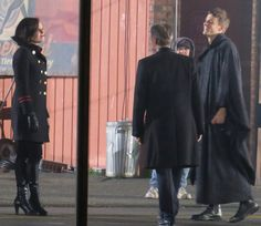 "Lana, Robert an Giles - 6 * 11 ""Murder Most Foul"" - Behind the scenes - 2 November 2016"