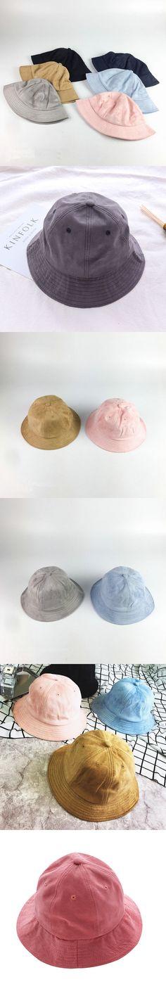 [La MaxPa] 9 Colors !! High-end Summer Solid Color Fisherman Suede Bucket Hats for Men Panama Women Hat